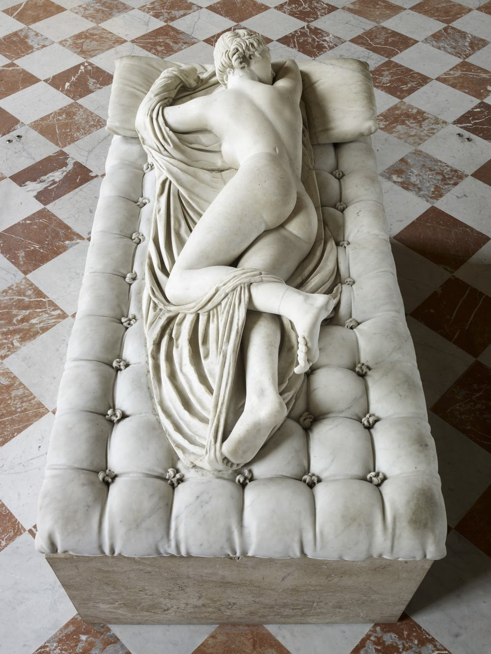 Sleeping Hermaphrodite. First half of 2nd century AD. Restored by Gian Lorenzo Bernini and David Larique. Louvre Museum, Paris. © Musée du Louvre, Thierry Ollivier