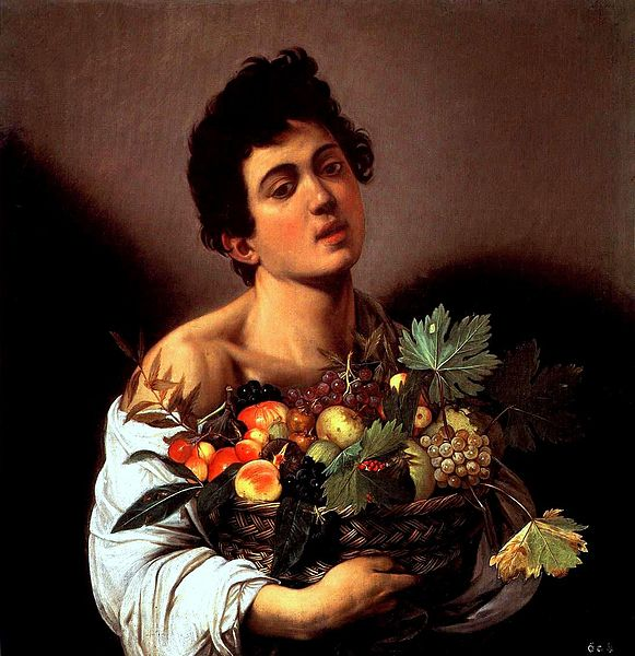Boy with a Basket of Fruit , Michelangelo Merisi da Caravaggio, 1593-1594, Galleria Borghese, Rome