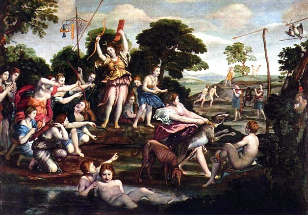 Diana and the Hunt , Domenichino, 1617-1618, Galleria Borghese, Rome