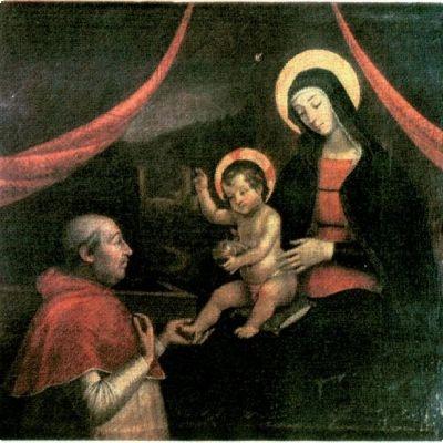 Copy of Pinturicchio's Baby Jesus blessing Pope Alexander VI , Pietro Facchetti, Mantova