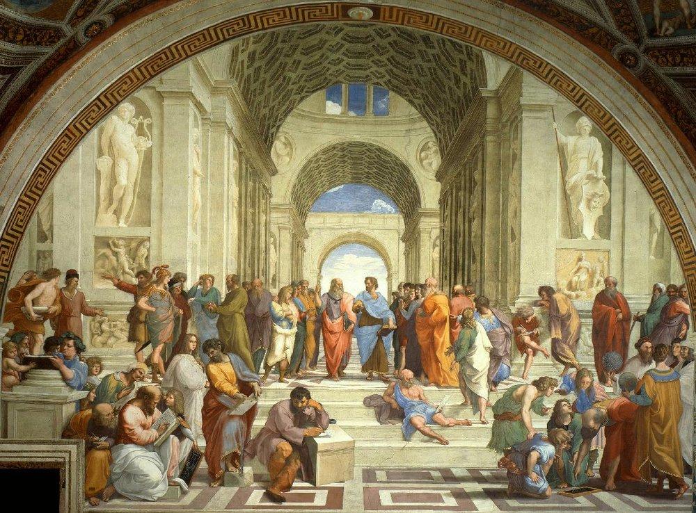 The School of Athens , Raphael Sanzio, Vatican Museums