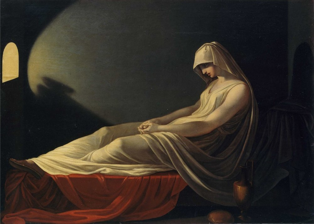 Vestal Virgin Condemned to Death , Pietro Saja, ca. 1800