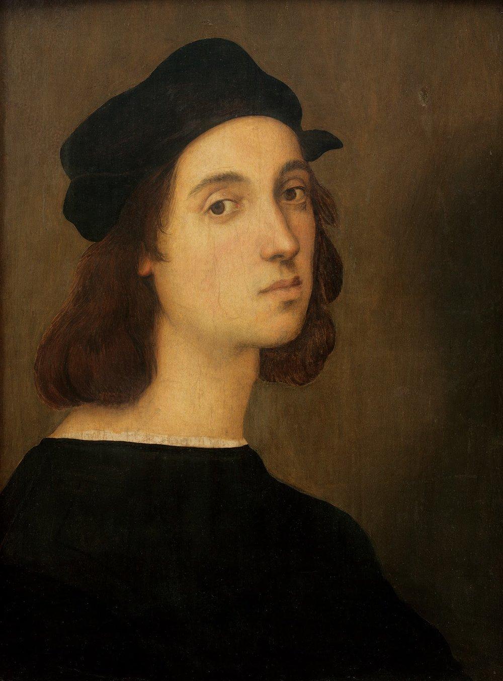 Self Portrait , Raphael Sanzio, 1509. Galleria degli Uffizi, Florence