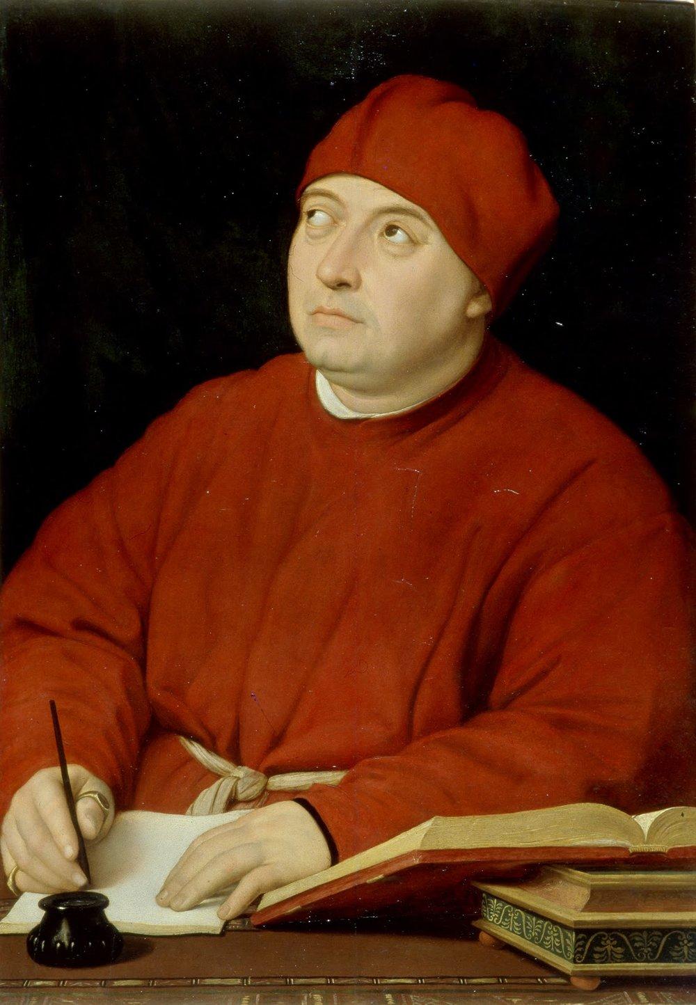Portrait of Tommaso Inghirami, called 'Fedra ', 1513. Galleria Palatina and Palazzo Pitti, Florence
