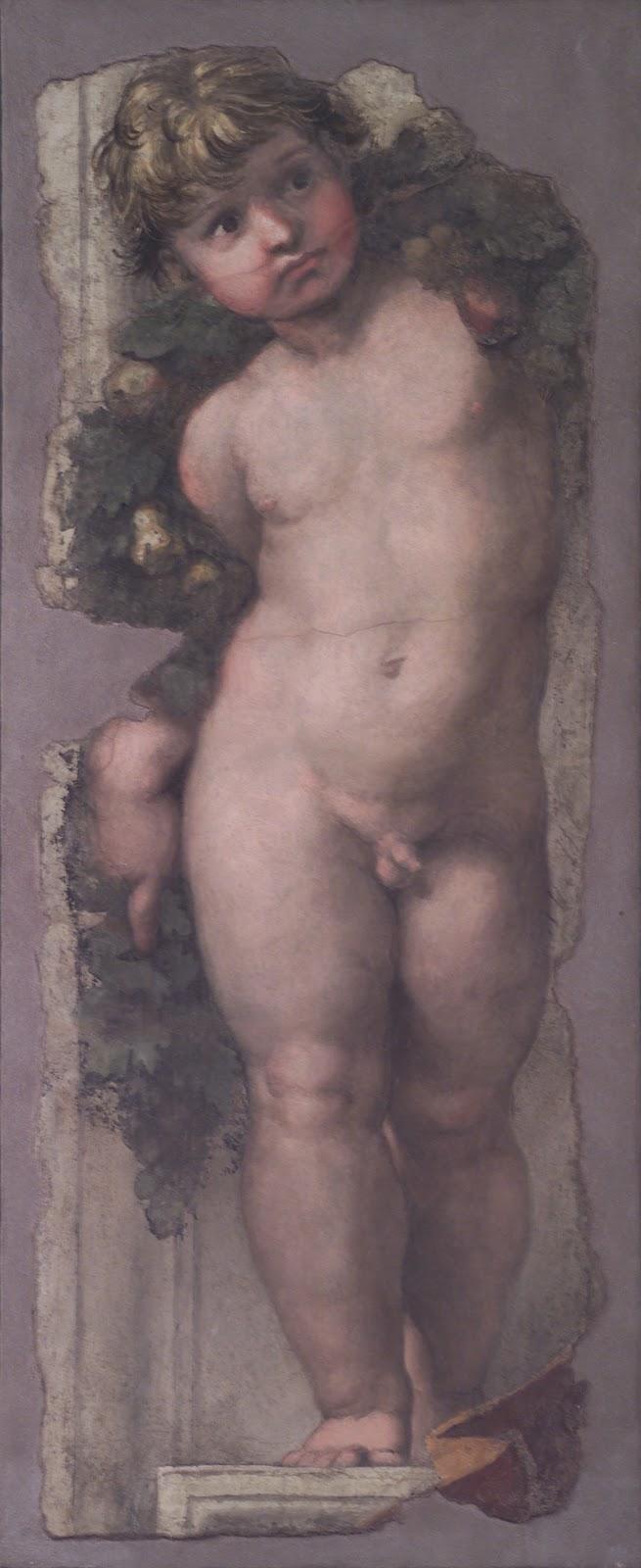 Cherub , Raphael Sanzio, 1511. Accademia Nazionale di San Luca, Rome