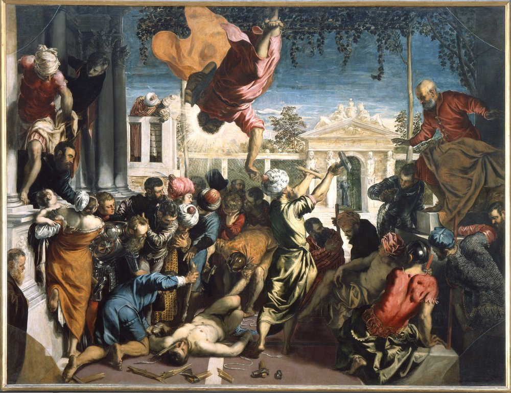 The Miracle of the slave , Tintoretto, 1548. Galleria dell'Accademia, Venice.