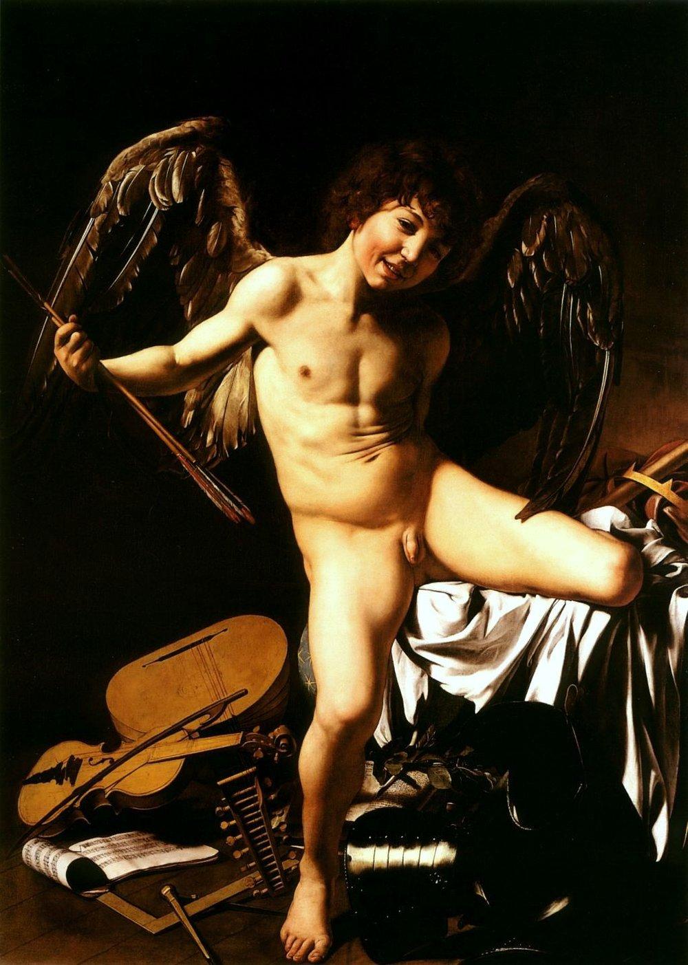 Love Victorious , Michelangelo Merisi da Caravaggio, 1602, Staatliche Museen, Berlin