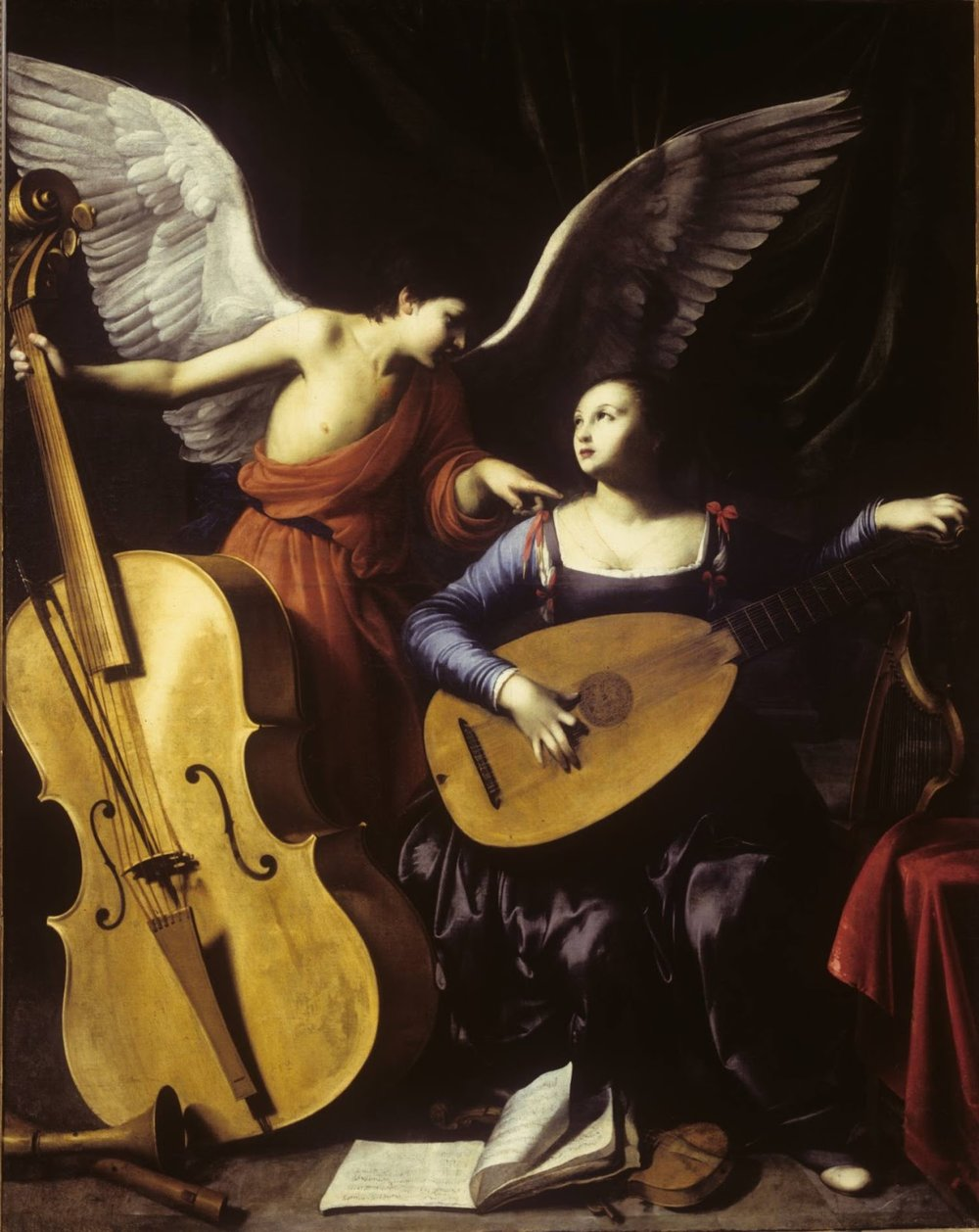 St. Cecilia and the Angel,  Carlo Saraceni