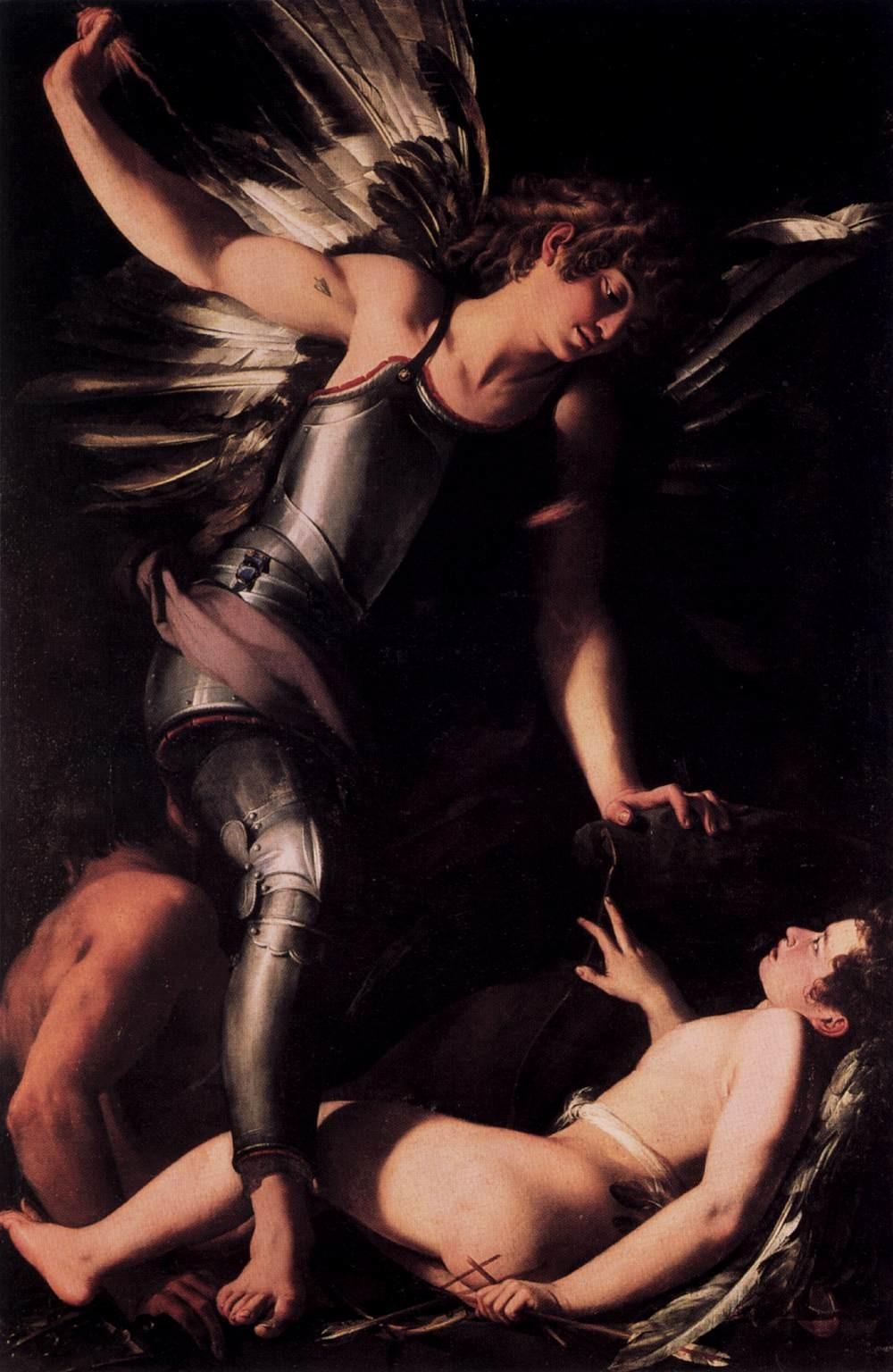 Sacred Love Conquers Profane Love , Giovanni Baglione, 1602, Staatliche Museen, Berlin