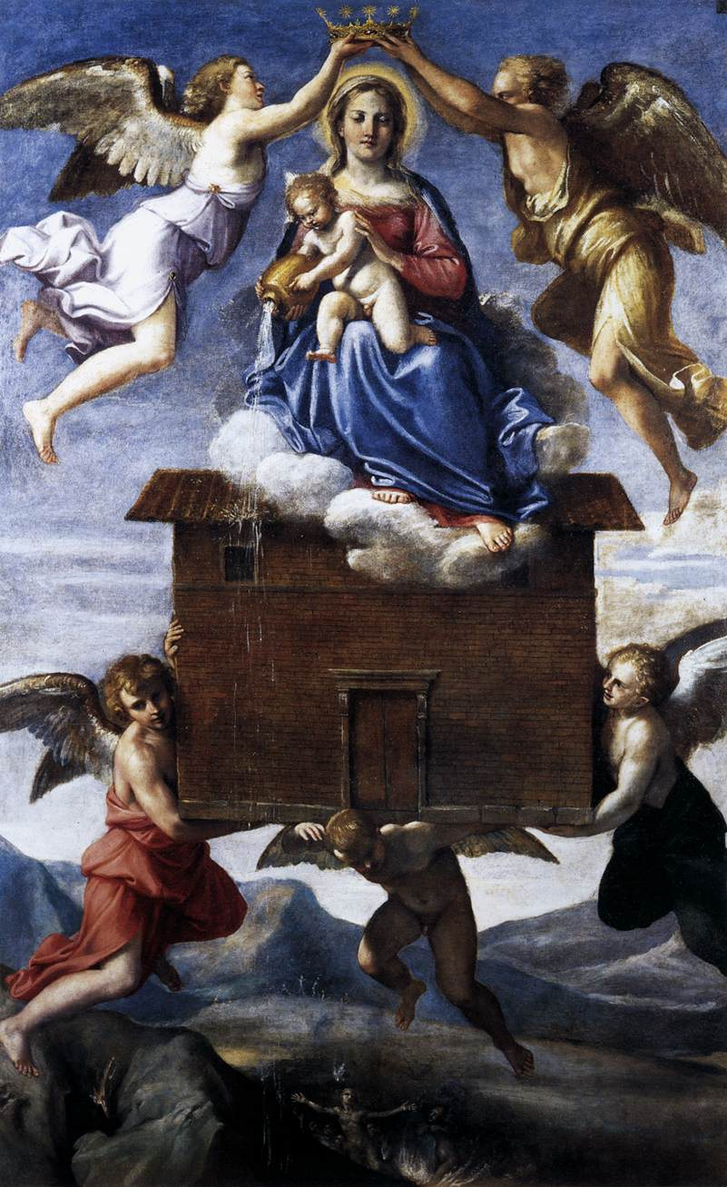 Translation of the Holy House , Annibale Carracci, Sant'Onofrio Church, Rome