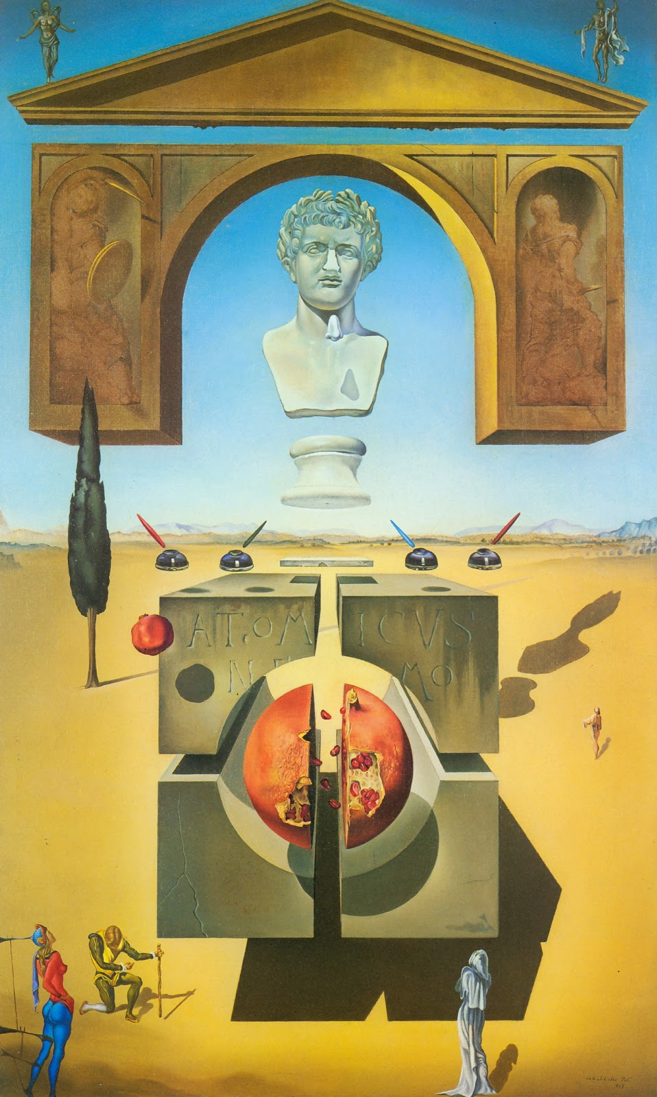Dematerialization Near the Nose of Nero , Salvador Dalì, 1947. Fundació Gala-Salvador Dalí, Figueres