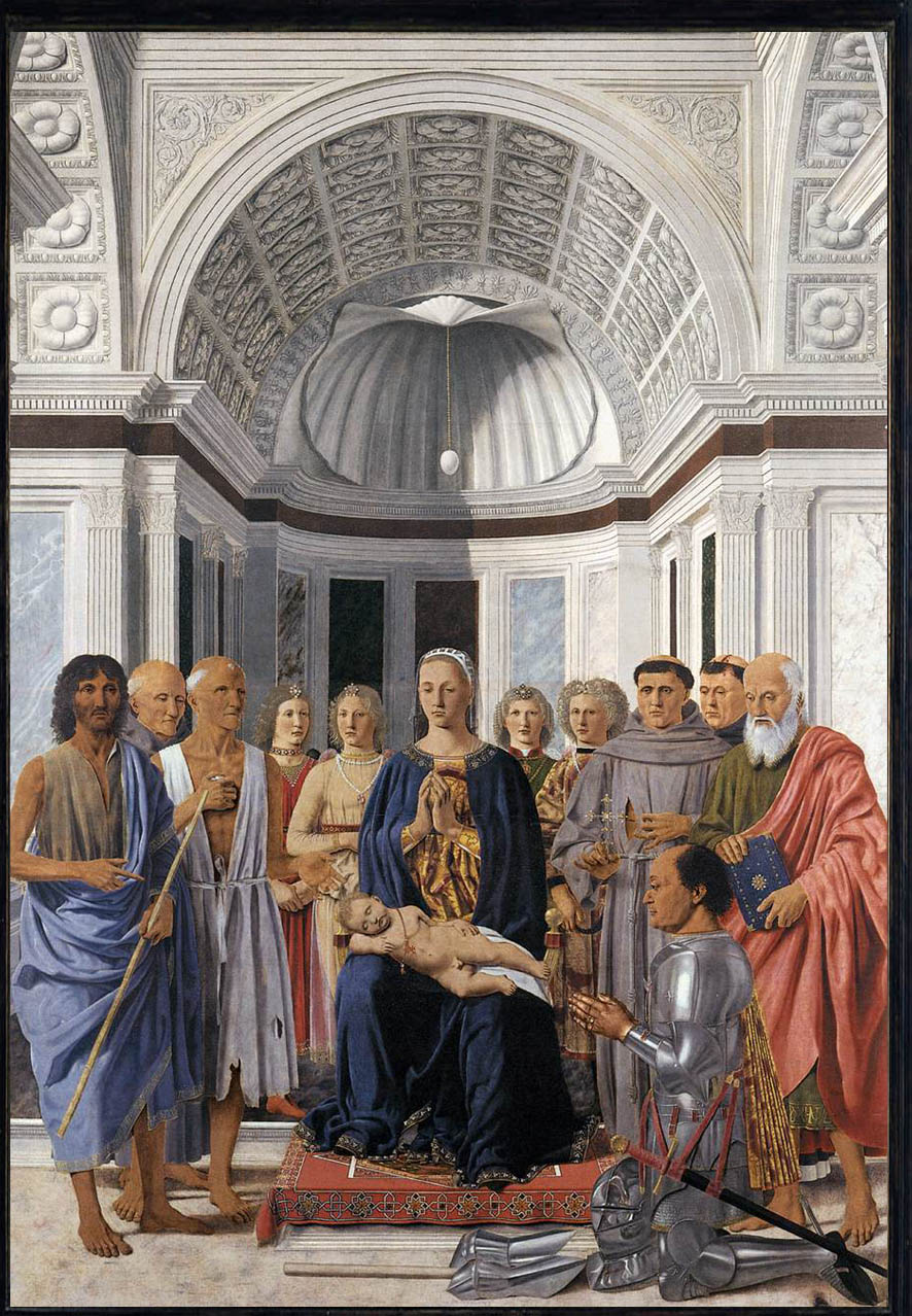 Madonna and Child, enthroned with saints (Brera Altarpiece) , Piero della Francesca, 1472. Galleria Brera, Milano.