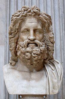 Head of Zeus , 1st century BC Roman original, Antiquarium Comunale, Otricoli