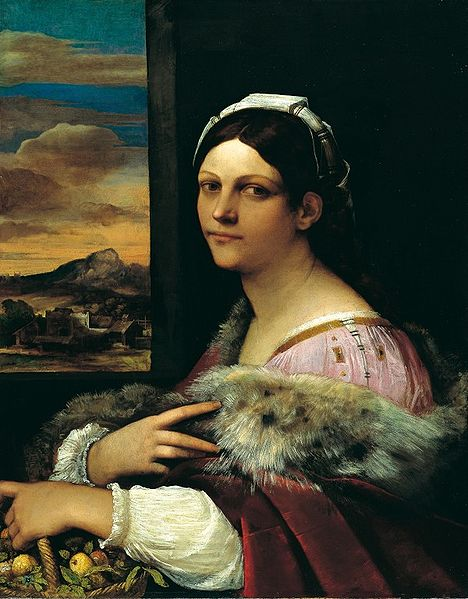 Portrait of Francesca Ordeaschi as Dorotea,  Sebastiano del Piombo