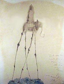 Elephant with Obelisk , Salvador Dalì, 1946. Fundació Gala-Salvador Dalí, Figueres