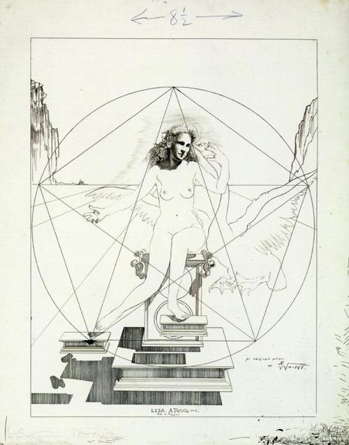 Study for Atomic Leda , Salvador Dalì, 1947. Fundació Gala-Salvador Dalí, Figueres