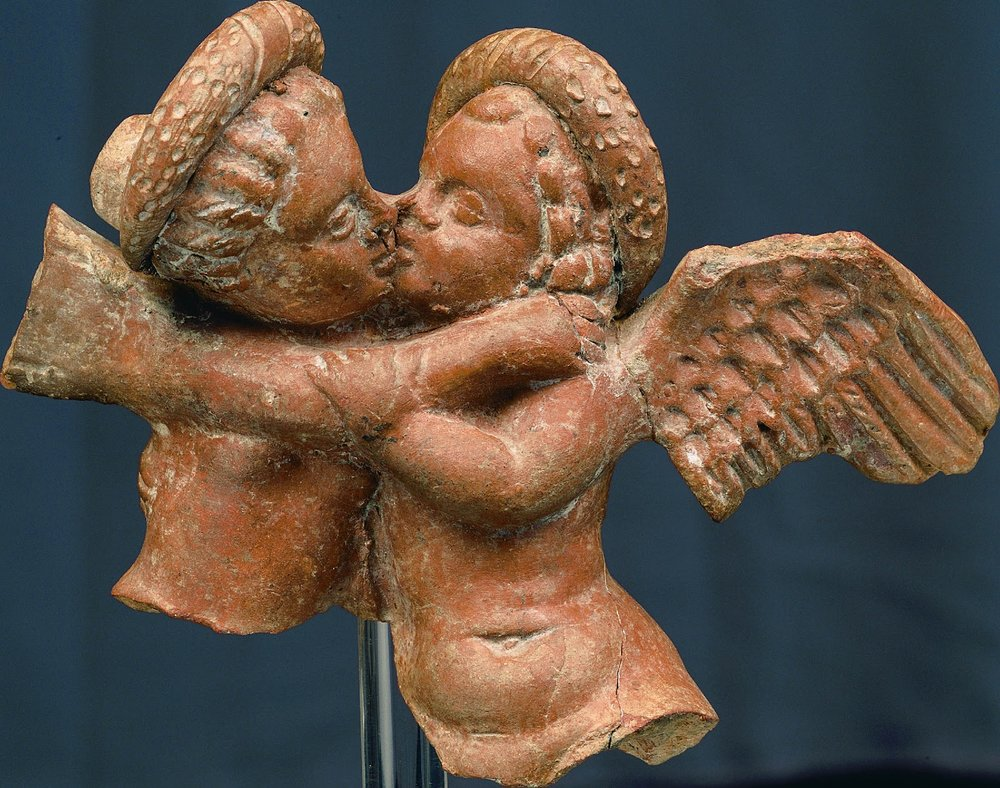 Cupid and Psyche Embrace , Early 1st century BC, Archeological Museum, Pella