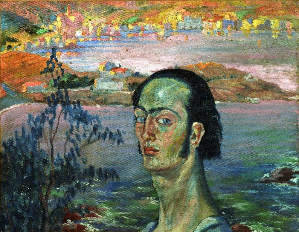 Self Portrait with Raphaelesque Neck , Salvador Dalì, 1921. Fundació Gala-Salvador Dalí, Figueres
