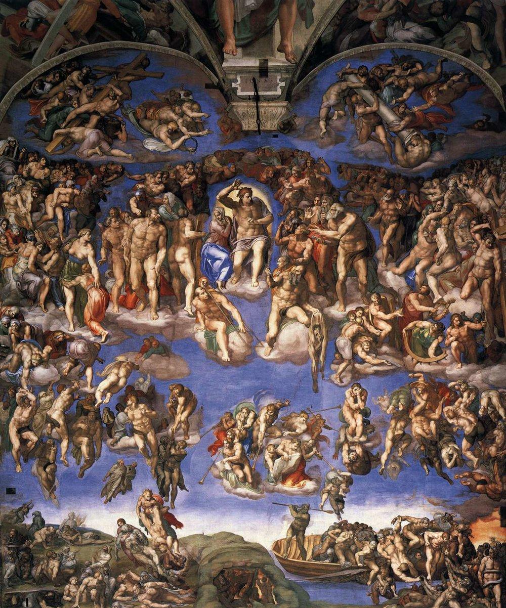 The Last Judgement,  Michelangelo Buonarroti, 1536-1541, Cappella Sistina, Musei Vaticani, Città del Vaticano