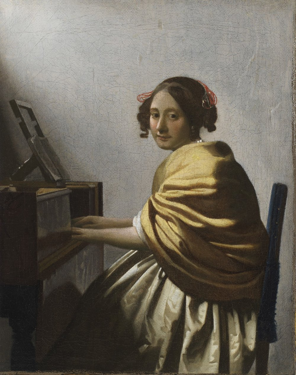 Young Woman Seated at a Virginal , Johannes Vermeer, 1670-72, private collection