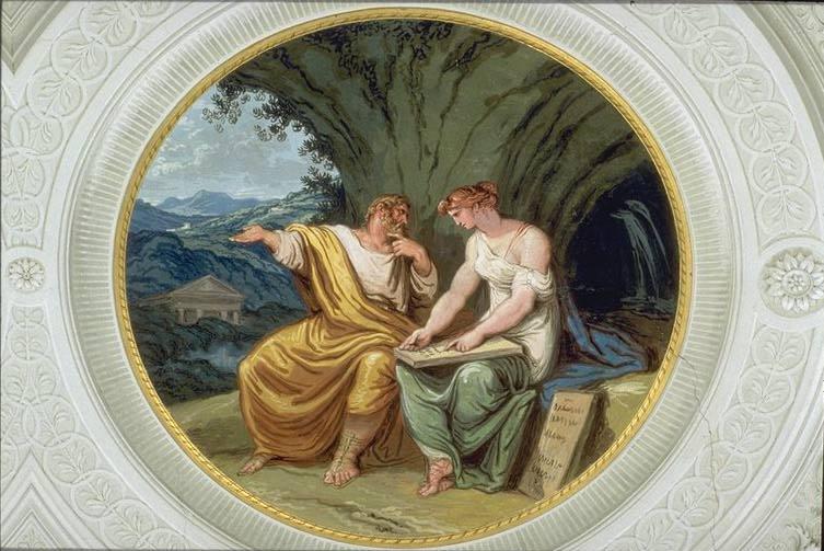 Numa Pompilius and the Nymph Egeria   , Felice Giani, Palazzo Milzetti, Faenza, 1802-1805.