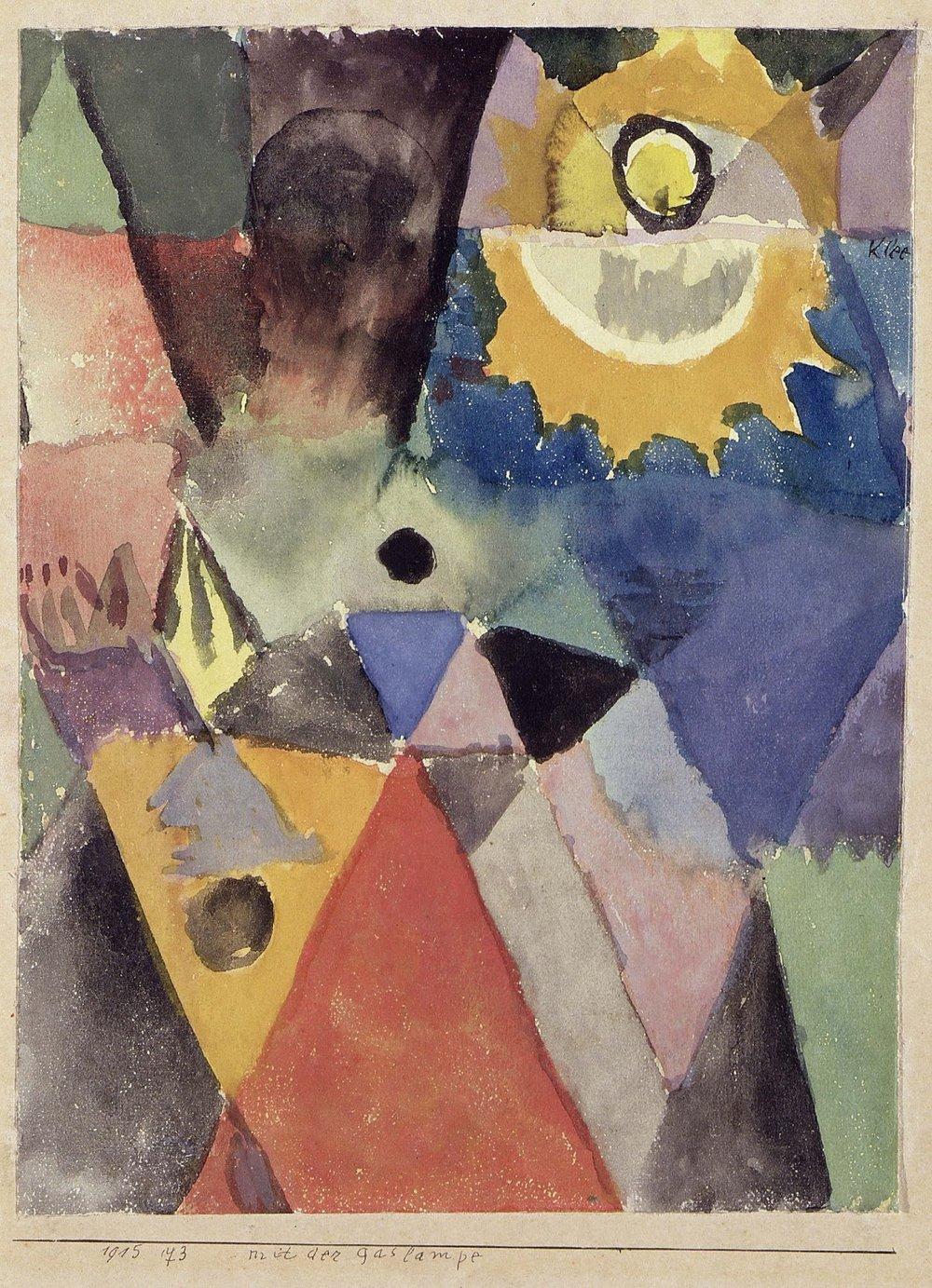 With a gas lamp , Paul Klee, 1915. National Gallery of Modern Art, Rome.