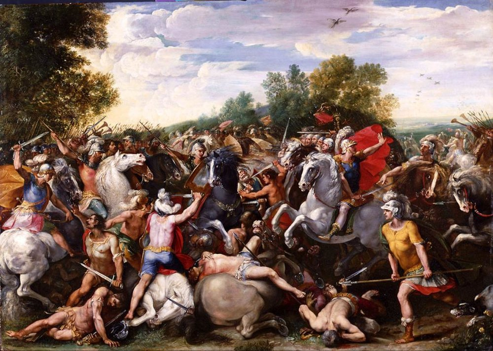 The Victory of Tullus Hostilius over the armes of Veii and Fidenae , Cavalier d'Arpino, 1601. Musée des Beaux Art de Caen.