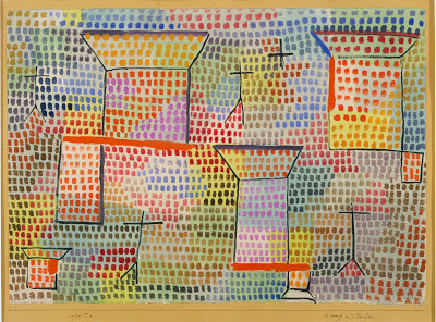 Crosses and columns   , Paul  Klee, 1931. Modern Art Gallery, Munich.