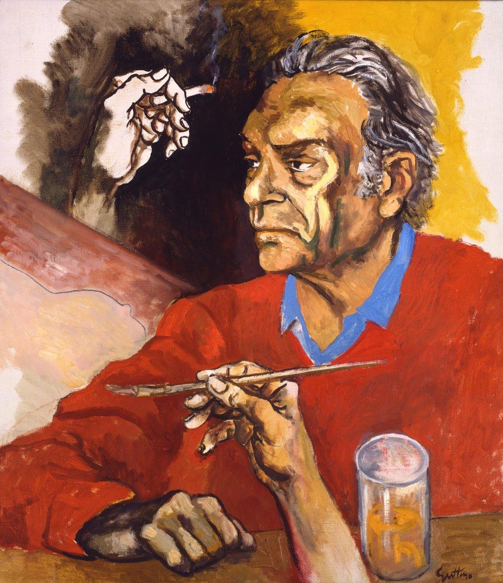 Self-portrait , Renato Guttuso, 1975. Collezione Archivi Guttuso, Roma