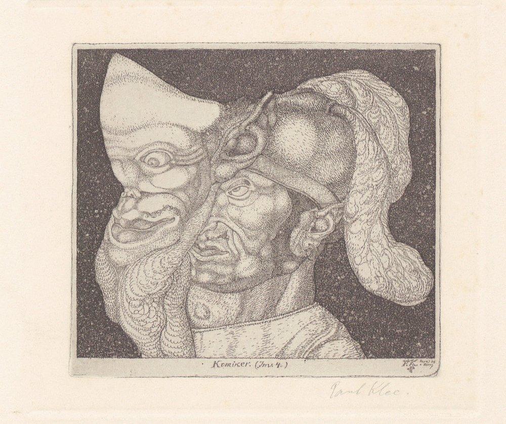 Jester , Paul Klee, 1904. Zurich.