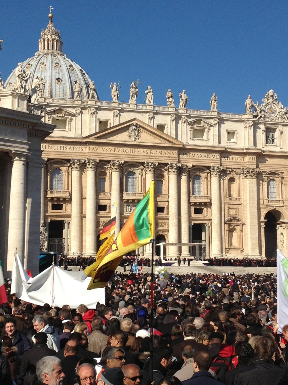 Pope Benedict XVI's final audience, St. Peter's Square, 27 February 2013