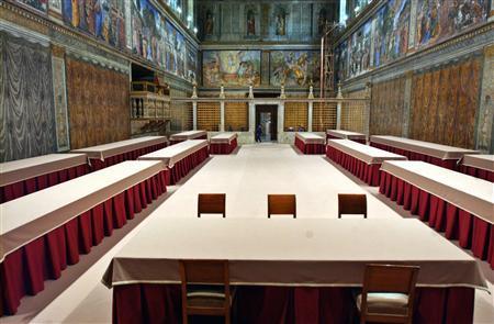 Sistine Chapel Prepared for Conclave