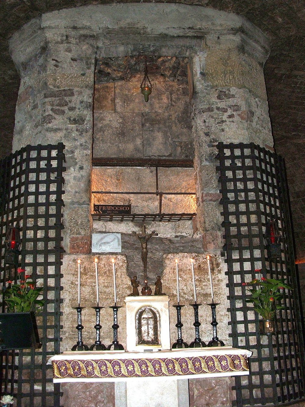 Tomb of St. Francis of Assisi. Basilica of San Francesco d'Assisi, Assisi. [ source ]