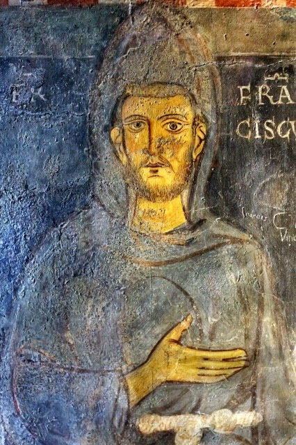 Portrait of St. Francis of Assisi , St. Gregory's Chapel, St. Benedict's Monastery, Subiaco. [ source ]