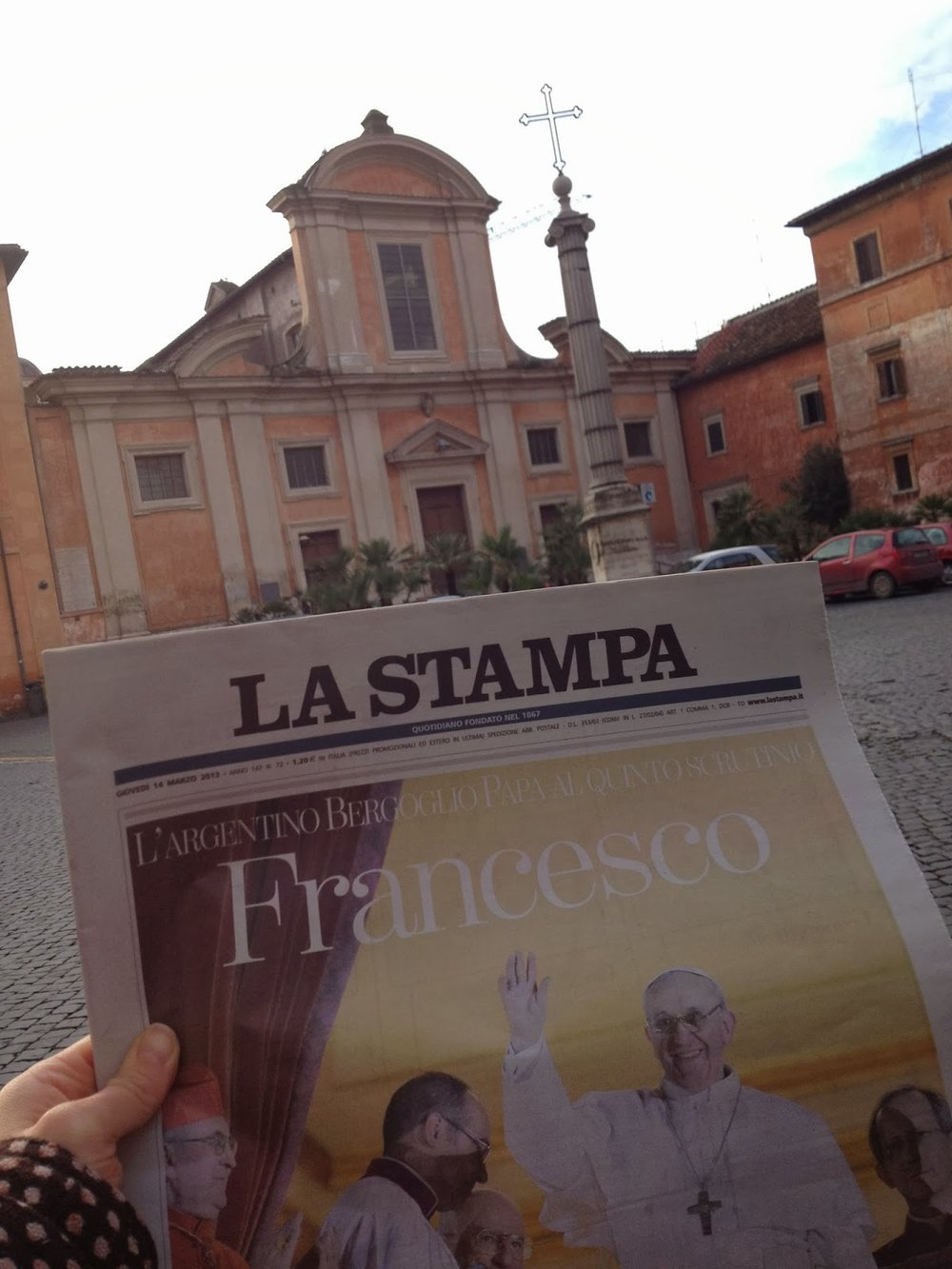 The Day after Pope Francis's election, Piazza San Francesco a Ripa. © Tiffany Parks