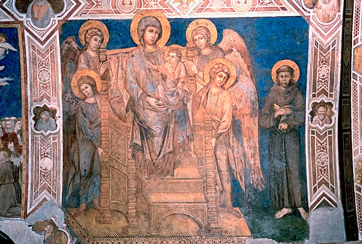 Our Lady Enthroned with St. Francis, Cimabue. Basilica of San Francesco d'Assisi, Assisi [ source ]