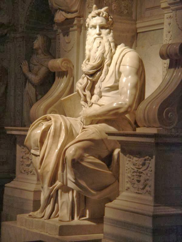 Moses , Michelangelo, San Pietro in Vincoli church, Rome [ source ]