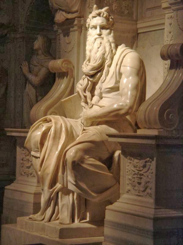 Moses , Michelangelo, San Pietro in Vincoli church, Rome [ source ]