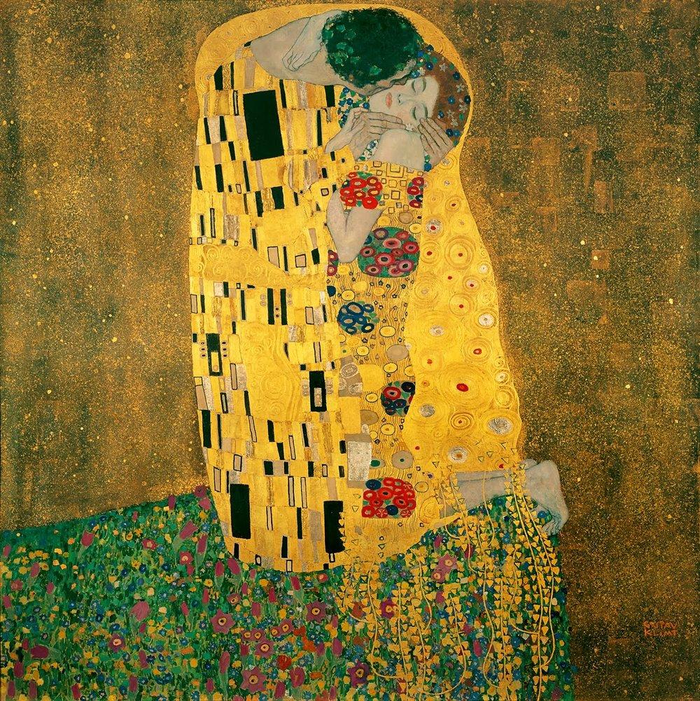 The Kiss   , Gustav Klimt, Österreichische Galerie Belvedere, Vienna