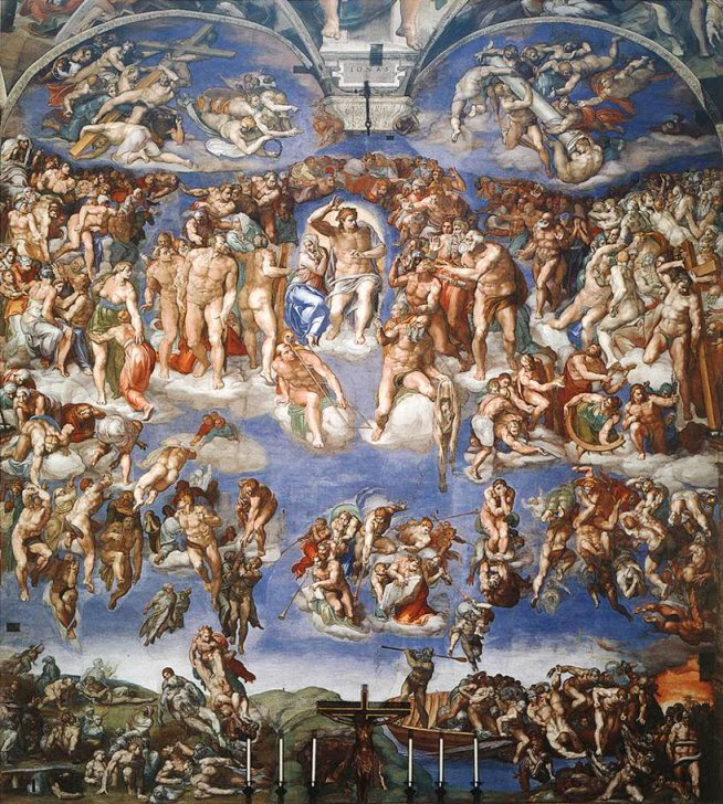 The Last Judgement , Michelangelo, Sistine Chapel [ source ]