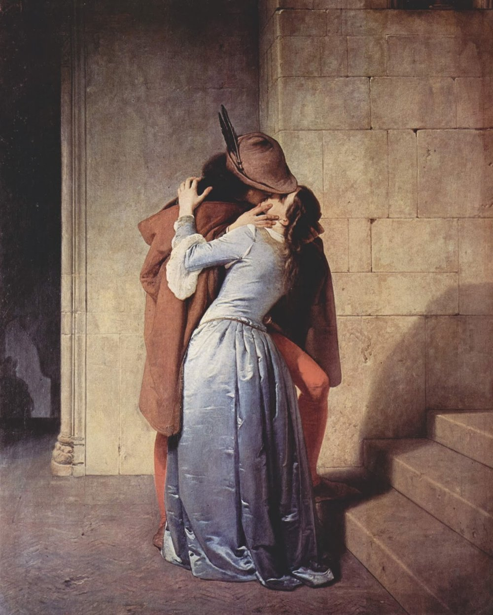 The Kiss   , Francesco Hayez, Pinacoteca di Brera, Milan