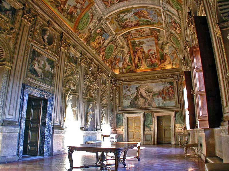 Interior of Palazzo Farnese, [ Source ]