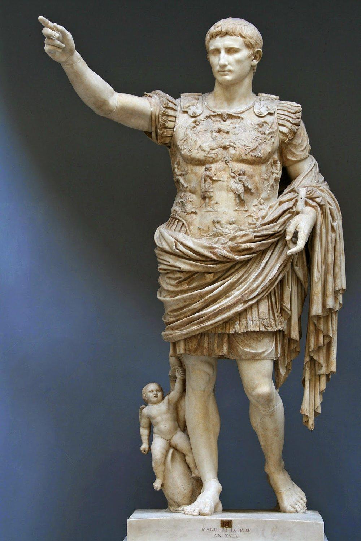 Augustus of Prima Porta, Musei Vaticani, Source: Wiki Commons