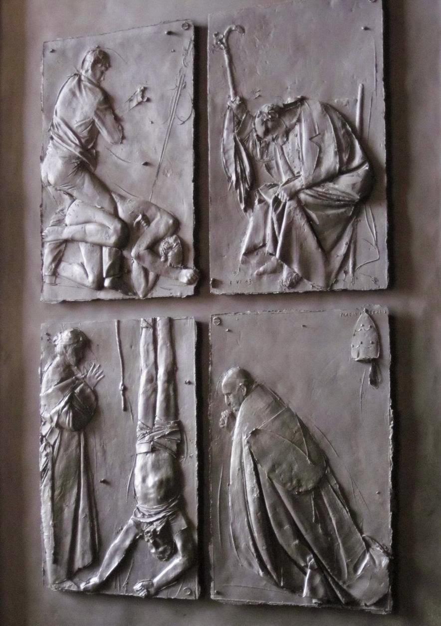 "Detail of ""Doors of Death,"" Giacomo Manzù [ source ]"