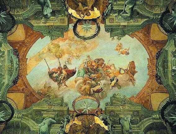 Apotheosis of Romulus , Domenico Maria Canuti, Palazzo Altieri