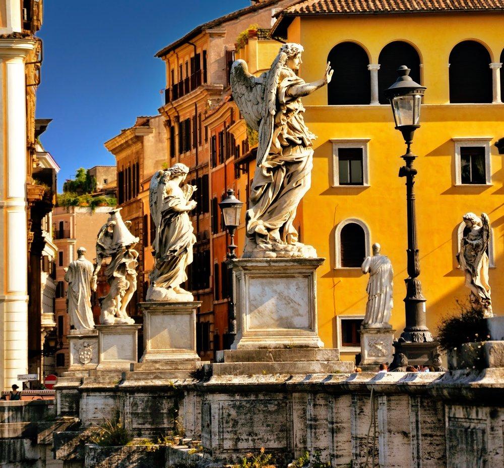 Bridge of the Angels, Rome © Kathleen Waters
