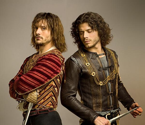 David Oakes as Juan Borgia and Francois Arnaud as Cesare Borgia in Showtime's series,   The Borgias