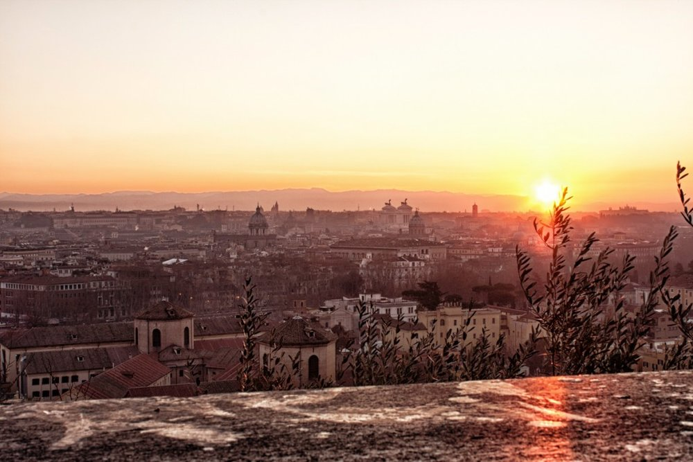 Sunrise from the Gianicolo Hill   [Source]