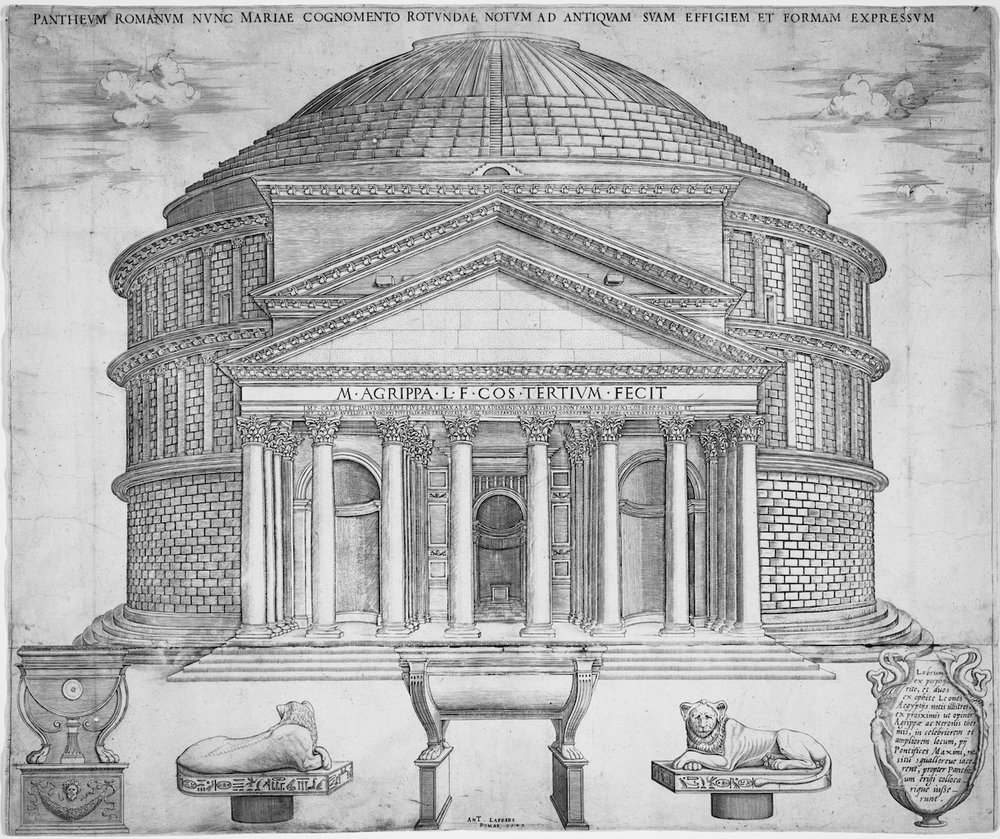 Engraving of the Pantheon_Nicholas Beatrizet.jpg