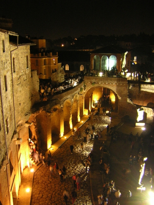 Trajan's Markets by Night